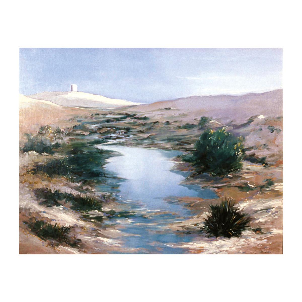 rashid al khalifa artwork landscape rumaitha wadi