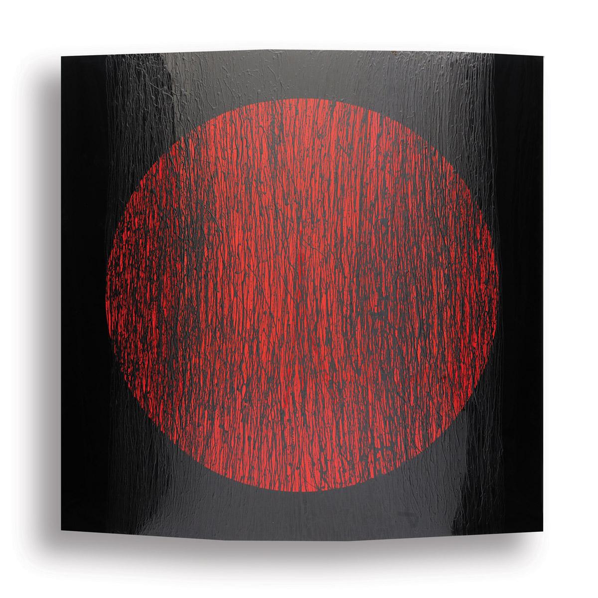 Black-with-Red-Circle_190-x-190-cm_Lacquer-on-aluminum_2010 rashid al khalifa