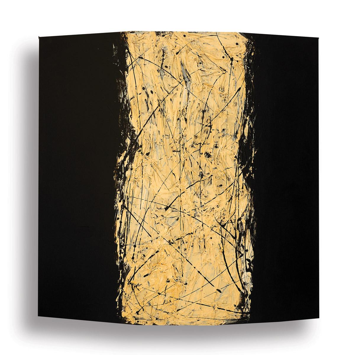 Black-with-White-Fabric_168-x-168-cm_Mixed-media-on-canvas_2010 rashid al khalifa