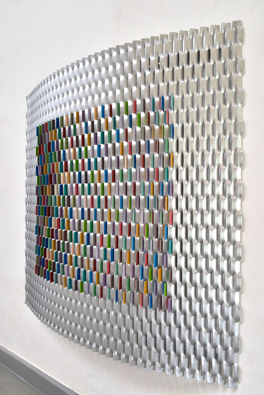 In-Colour-(Parametric),-Enamel-on-Aluminum,-2018,-120-x-120-cm, RASHID AL KHALIFA