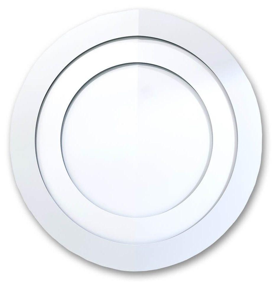 full circle in white enamel on aluminium