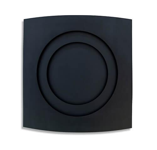 Spherical-Compression-in-Grey,-2020,-Enamel-on-Aluminium,-150-x-150-cm